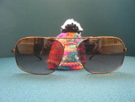 mini woolley hat in raybans by LilMickey27