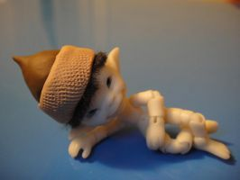 Acorn hat for micro BJD by clarinetplayer