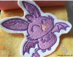 MLP Cute Baby Vampire Fruit Bat Patch by Whyte-Raven