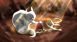 Brightpaw + Cloudtail by WhiteLilySong
