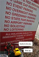 No Parking by Fandragon