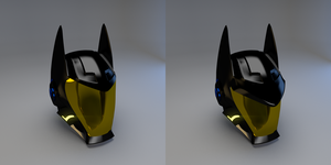 Batman Space Helmet by AzizDraws