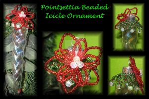 Beaded Poinsettia by DragonKissses