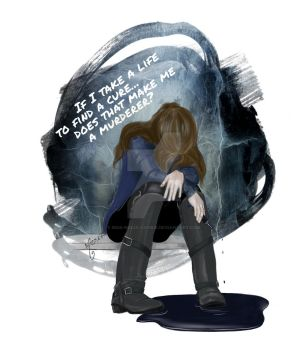 moral dilemma // abby griffin // the 100 by miss-ninja-cookie