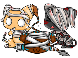 Mummy Cat Chibis~ Request by PrincessDevin302