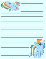 Rainbow Dash Stationary by KumiUchiha