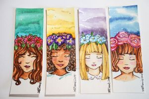 Flower Girls set one by hobbit-katie