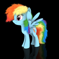 MLP Fluffy - Rainbow Dash by VeryOldBrony