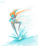 Deoxys Speed Form by Excalibur-chan