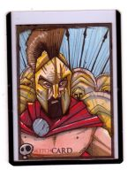 Sketchcards - King Leonidas by JeremyTreece