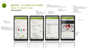 Spotify Android Concept ver. 1 by Reymond-P-Scene