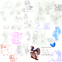Fandom/Characters Sketch Dump by Togekisser