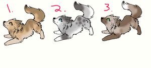 Wolf pup adoptables! *CLOSED* by KatnipKat