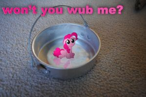 Pinkie in a Bucket (Captioned) by UtterlyLudicrous