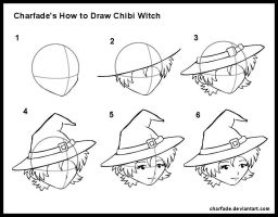 How to Draw Chibi Witch by charfade