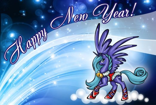 Happy New Year from Princess Luna by Tomtu