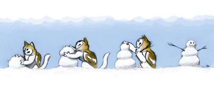 Snow Griffin by RobtheDoodler