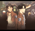 SNK: Levi and Eren by Alen-AS