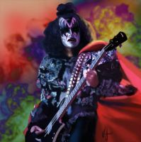 Psychedelic Gene Simmons by choffman36