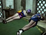 Kasumi and Ayane tied up on bed 3 by skygaggedrim