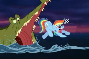 RAINBOW DASH VS TICK TOCK CROC 3 by KITTENTEENTITANS