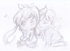 3rd Place Prize: Ichigo and Charlie by Aiko-Hirocho