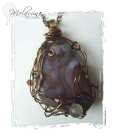 """Heather Cliff"" Wire Pendant by melarune"