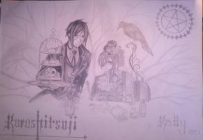 Sebastian Michaelis and Ciel Phantomhive by FellyKelly