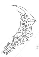 Bonehew Ogre Axe- Inked by Crow-of-the-Abyss