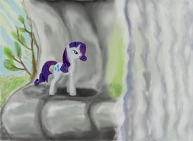 Rarity in the emerald cave by TheQuezacotl