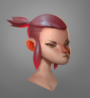 Boxer girl bust by Beezul