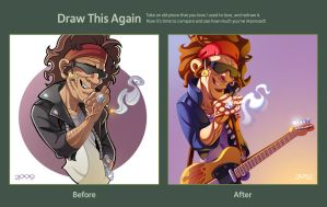 Draw this Again: Keith Richards by ubegovic
