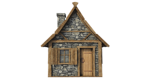 Medieval Hut A-4, PNG by fumar-porros
