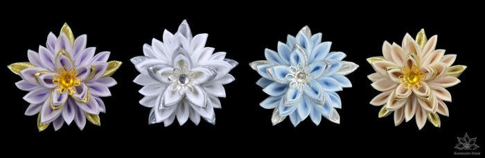 A touch of silver and gold by Kanzashi-Hime