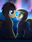 Collab: Star-Crossed Lovers by drawponies