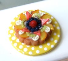 Dollhouse Miniature Fruit Tart by LittleSweetDreams