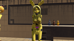 (MMD) SpringBonnie in the FNAF 3 Office by zombienateisback