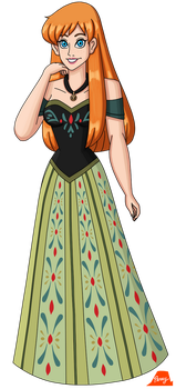 Anna With Her Hair Down by PerryWhite
