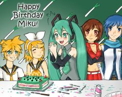 Happy Birthday Miku by ZeroMidnight