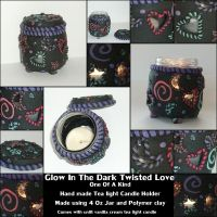 twisted love candle holder by spaztazm