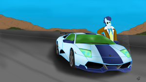 Soarin and his Lambo. by Mennorino