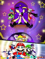 Dimentio and the Prank-Jesters by Chivi-chivik
