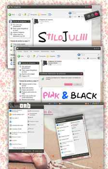 Pink and Black By StiloJuliii FOR WINDOWS XP by StiloJuliii