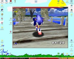 Me playing Sonic Adventure DX by doomgrip776