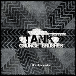 Tank Pattern Grunge Brushes by DieheArt