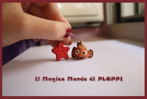 Nemo earrings Fimo Ploppi by MagicoMondoDiPLOPPI