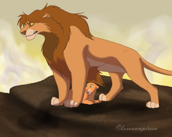 You do not dare to touch her, Scar by besavampiresa