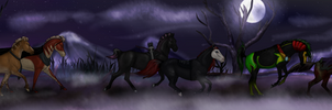 Upon a Moonlit Night by alexpeanut