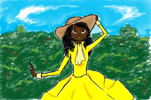 Lady In Yellow by RianneGe