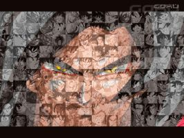 Goku Mosaic by Jammurch
